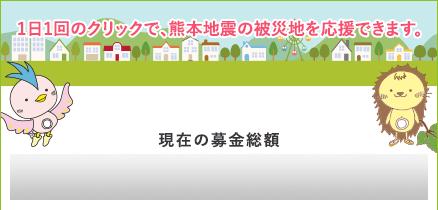 1日1回のクリックで、熊本地震の被災地を応援できます。